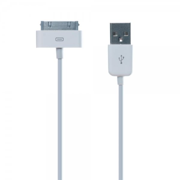 connect IT Kabel USB Cable Apple 30pin 1m weiß # CI-97