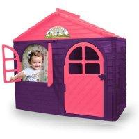 Jamara Spielhaus Little Home lila Gartenhaus Haus Kinder Kunststoff Robust Outdoor Indoor Pflegeleicht