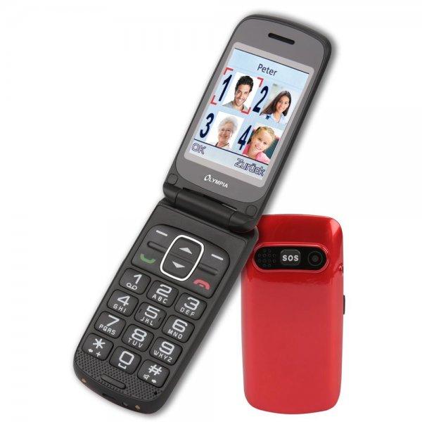Olympia Primus Großtasten-Mobiltelefon Rot Farb-LCD-Display Grosstastenhandy Seniorenhandy