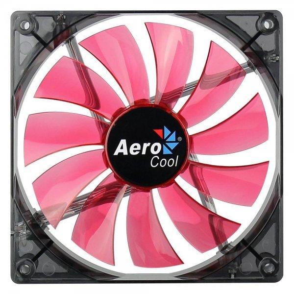 Aerocool Lightning LED Lüfter rot 140mm 140x140x25