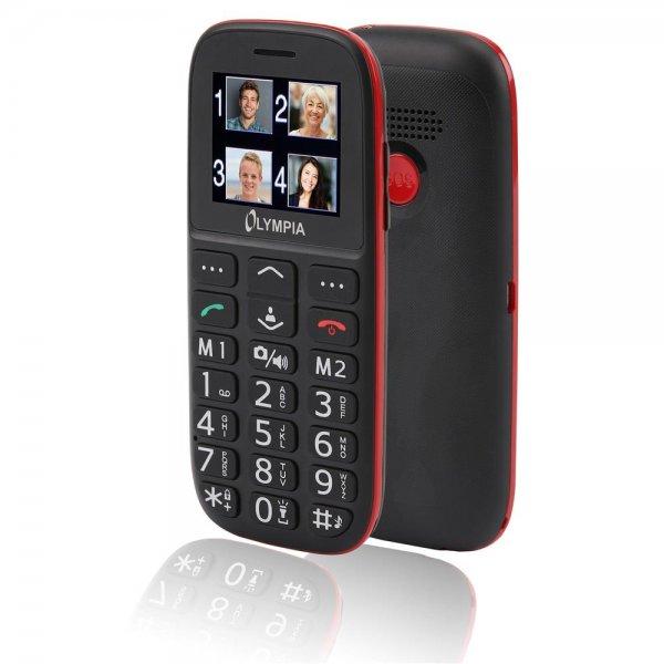 Olympia Bella Großtasten-Mobiltelefon Schwarz Farb-LCD-Display Grosstastenhandy Seniorenhandy