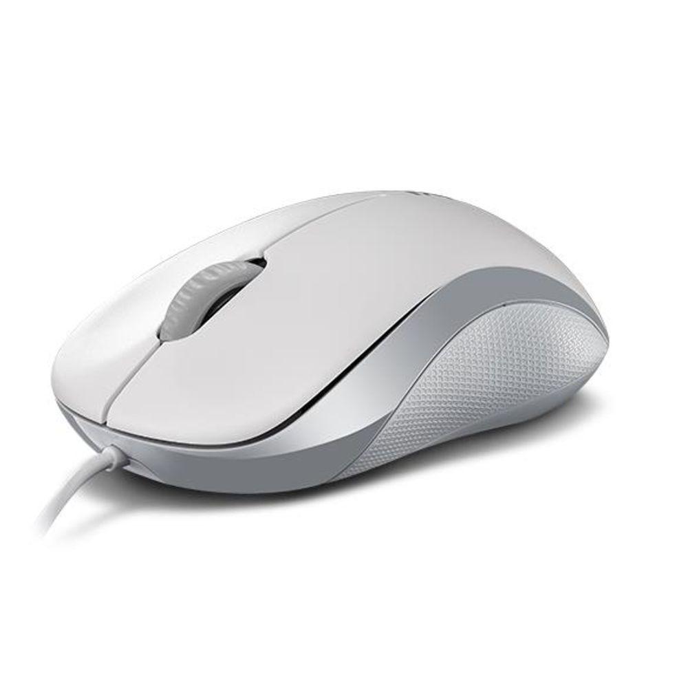 Rapoo N1130 Optische 3-Tasten-Maus 1000dpi gummiertes 2D Mausrad weiß