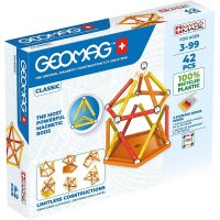 Geomag Classic 42 Teile Magnetbausteine Magnetisches Konstruktionsspielzeug ab 3 Jahren