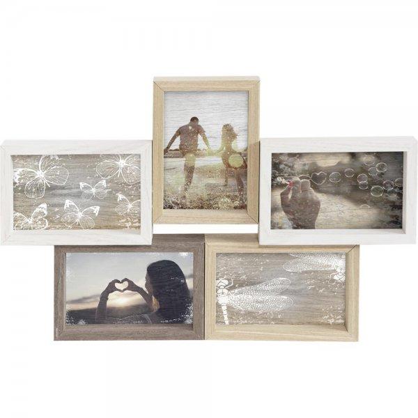 Nielsen Collage Mixed Colours 5 Holzbilderrahmen 5x 10x15 Bilderrahmen Rahmen Holz Galerie | 8999343