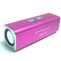 Musicman Stereo Lautsprecher für MP3 Player pink Radio Soundstation Speaker