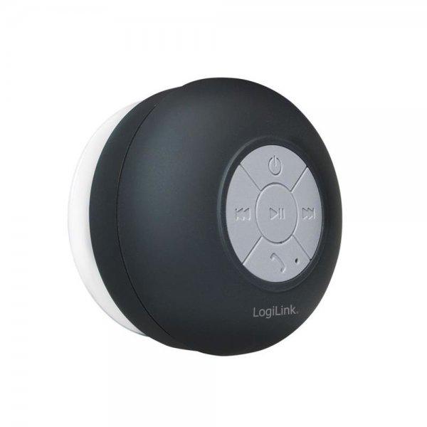 LogiLink SP0052 Wireless Bluetooth Lautsprecher für die Dusche Schwarz