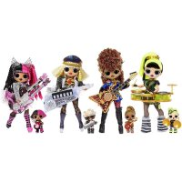 MGA L.O.L. Surprise! OMG Remix Super Surprise – With 70+ Surprises, 4 Fashion Dolls & 4 Musical Instruments