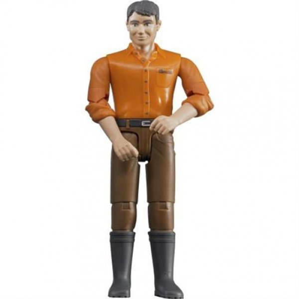 Bruder 60007 bworld - Mann, brünett mit brauner Hose Spiel-Figur Spielzeug NEU