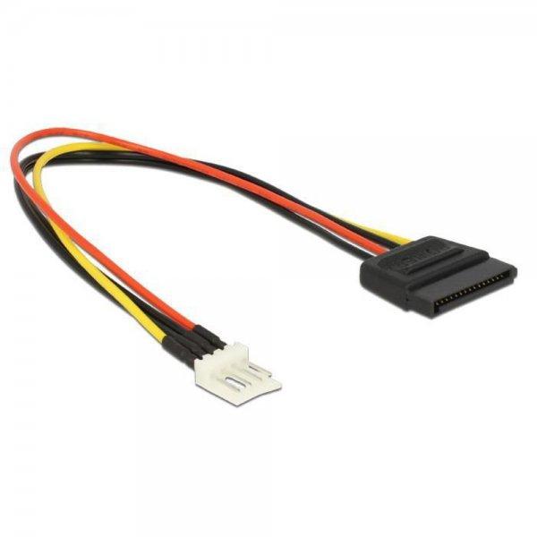 Delock Stromkabel SATA 15 Pin Stecker > 4 Pin Floppy Stecker 24 cm