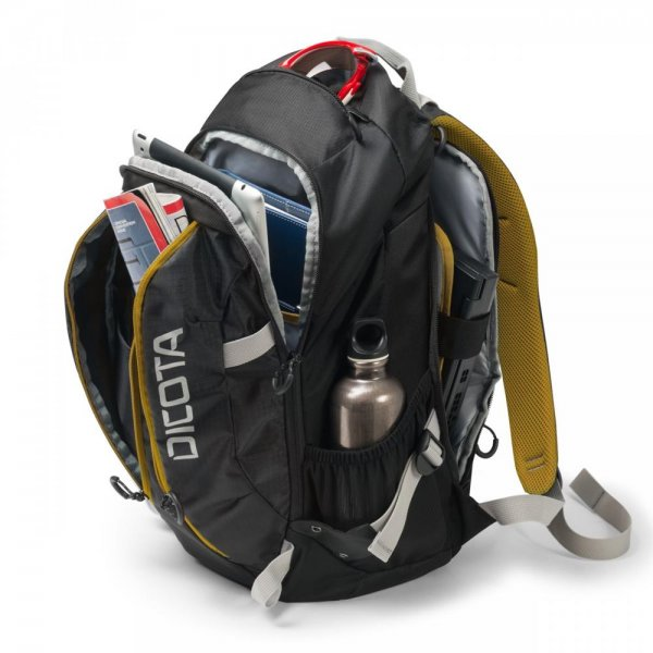 DICOTA Backpack Active 39,6cm 14-15,6Zoll black/yellow