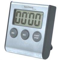 Technoline KT 200 Kurzzeit-Wecker digital Countdown Timer/Stoppuhr Edelstahl