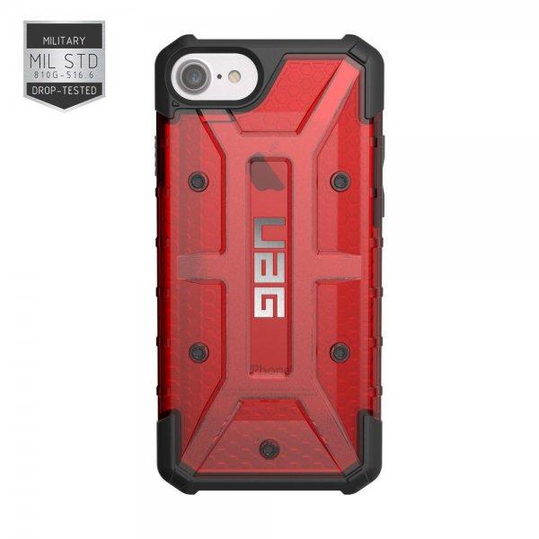 Urban Armor Gear Plasma Case Schutzhülle Apple iPhone 7/6S Magma Rot transparent