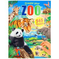 Depesche 11416 - Malbuch Create your Zoo mit Stickern ca. 30 x 22 x 0,5 cm groß mit 24 bunt illustrierten Seiten