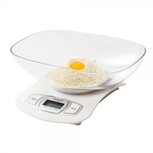 Adler Elektronische Küchenwaage Silber Rührschüssel 5 kg LCD digitale | AD 3137