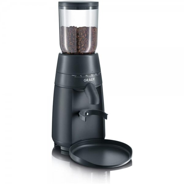 Graef elektrische Kaffeemühle CM 702 Schwarz Espressomühle Kegelmahlwerk