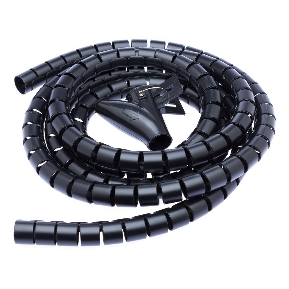connect IT Flexible Kabelführung Spiralschlauch 2,5m x 20mm Schwarz ...