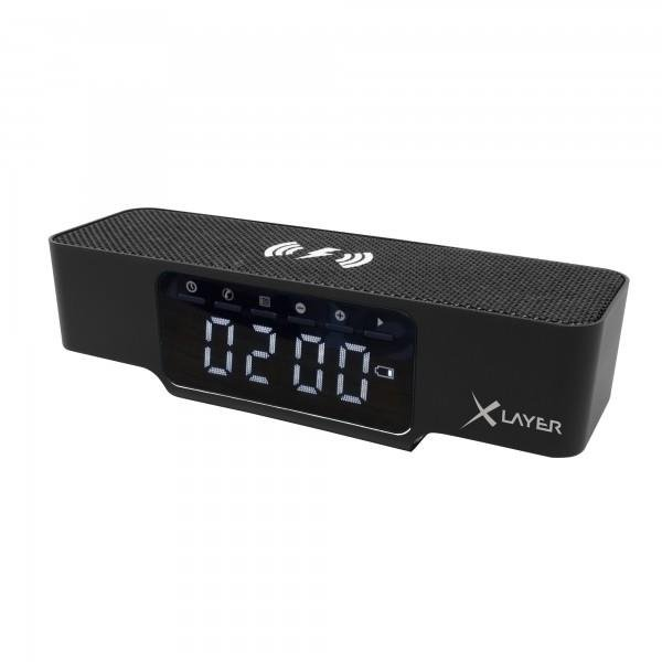 XLayer Ladegerät Wireless Charging Alarm Clock Black Smartphones/Tablets