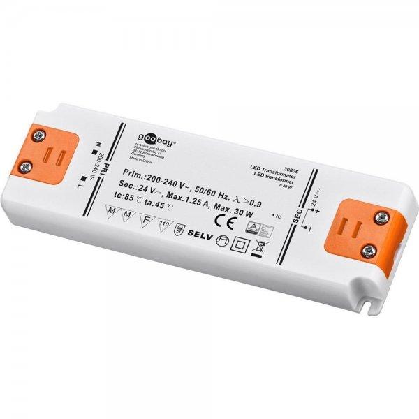 Goobay slim LED Transformator DC-Betrieb 24 V DC Ausgangsspannung # 30606