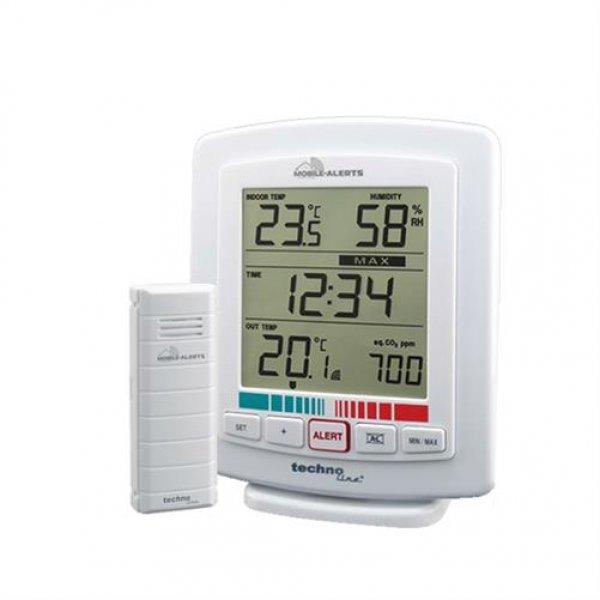 Technoline WL 2000 Tischuhr Luftgüte-Monitor Innen-/Außentemperatur Luftfeuchte