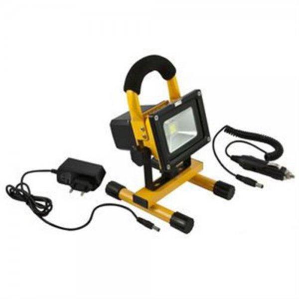Synergy 21 LED Spot Outdoor Baustrahler 10W AKKU gelb
