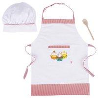 GOKI 51678 - Kochset für Kinder 3-teilig Holz / Textil NEU