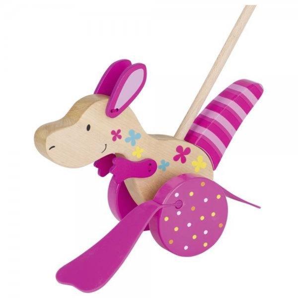 Goki Schiebetier Känguru Susibelle Kollektion Holzspielzeug Lauf Schiebe Spielzeug
