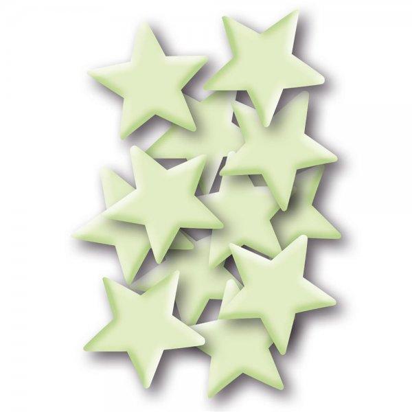 HERMA 15019 Leuchtsticker Sterne klein ablösbar & wieder verwendbar für Kinder