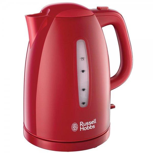 Russell Hobbs Wasserkocher Textures Red 2400 Watt 1,7L Schnellkochfunktion Rot