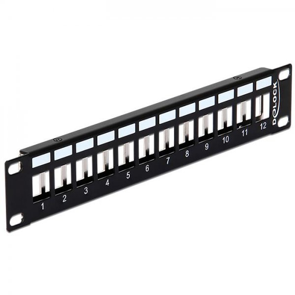 Delock 10? Keystone Patchpanel 12 Port Metall schwarz