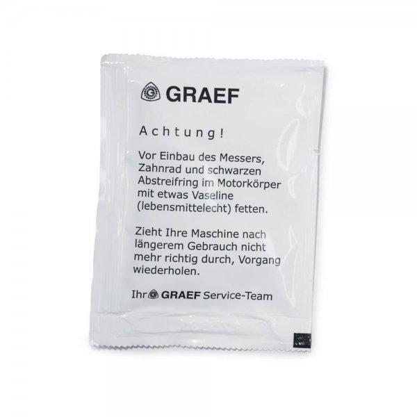 Graef 141842 Beutel Vaseline 5,5g Allesschneider Pflege Reinigung Einfetten