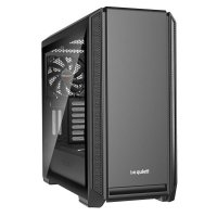 be quiet! SILENT BASE 601 Window Gehäuse PC Tower Computer Case Schwarz mit Seitenfenster BGW26