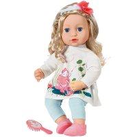 Zapf Creation 703014 Baby Annabell Sophia so Soft Puppe mit langen Haaren zum Stylen 43 cm