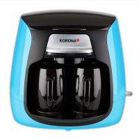 KORONA Mini Kaffeemaschine 1-2 Tassen Kaffeeautomat blau / schwarz inkl. 2 Tassen