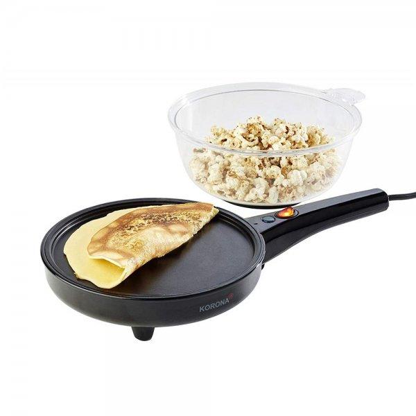 KORONA 2in1 Popcorn- und Crêpes-Maker Popcornmaschine Pfanne mit Deckel