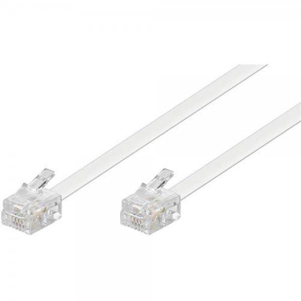 Wentronic TEL 6P4C/RJ11 1000 WHITE 10m Modularanschlußk # 93063