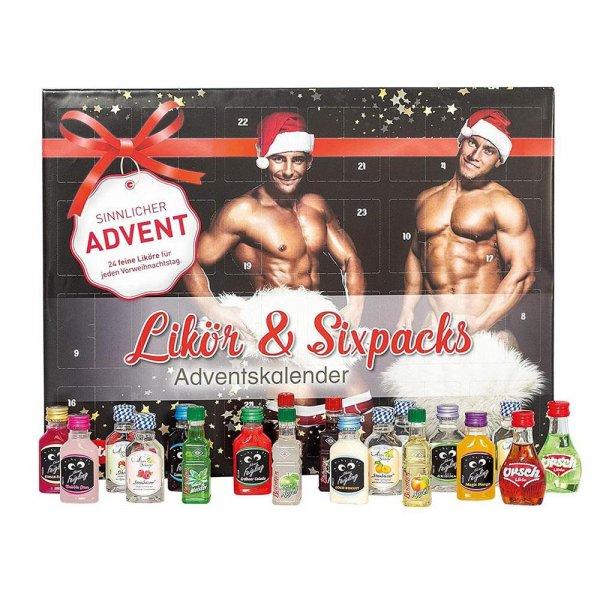 ROTH Likör + Sixpacks-Adventskalender 2020 gefüllt Alkohol-Minis Schnaps-Kalender Nur für Erwachsene