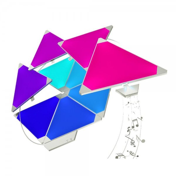 nanoleaf Light Panels Starter Kit + Rhythm | Modulares Design | 9 Pack | EU/UK | NL28-2002TW-9PK
