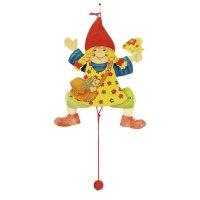 Goki Hampelfigur Mädchen Figur Hampelmann Holzspielzeug Hampel Puppe Holz