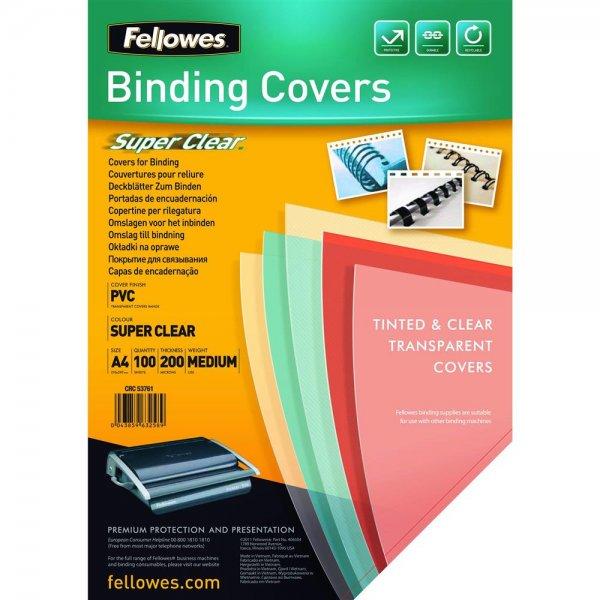 Fellowes Deckblatt A4 transparent 200 Mikron