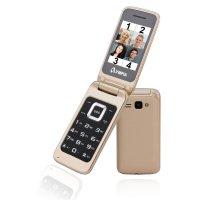 Olympia Luna Großtasten-Mobiltelefon Gold Farb-LCD-Display Grosstastenhandy Seniorenhandy