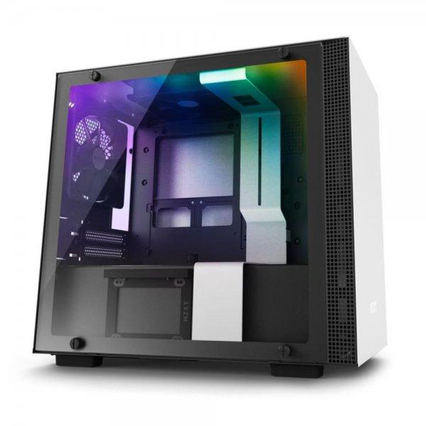 NZXT H200i Mini-ITX Gaming-PC Gehäuse Fenster RGB-Beleuchtung | Weiß/Schwarz