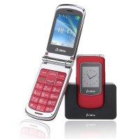 Olympia Style View Großtasten-Mobiltelefon Rot Farb-LCD-Display Grosstastenhandy Seniorenhandy