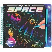 Depesche 11404 Malbuch Magic Scratch Book Space ca. 15,3 x 13,3 x 1,8 cm Unisex