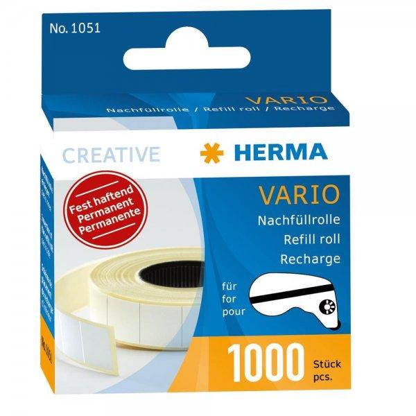 HERMA 1051 Vario Nachfüllrolle permanent fest haftend 1000 Klebestücke