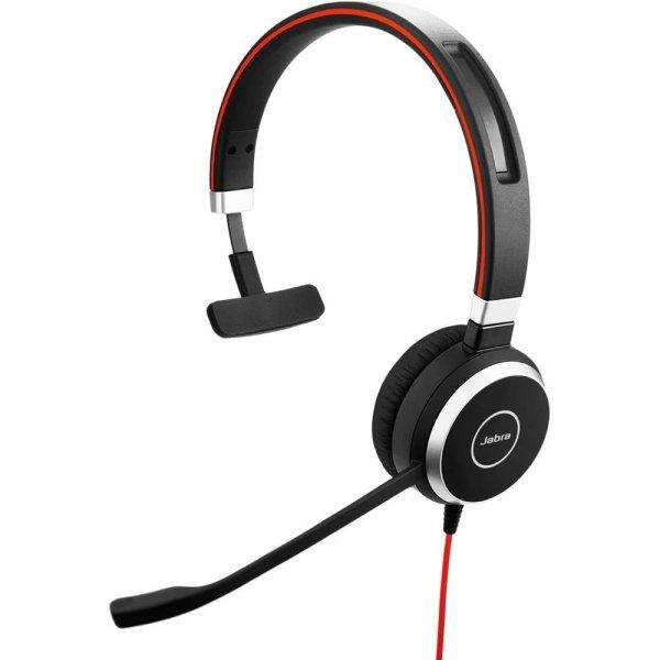 Jabra EVOLVE 40 Monophon Kopfband Schwarz, Silber Headset