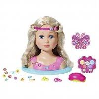 "Zapf Creation 824788"" Baby Born Sister Styling Head Puppe Frisierkopf 27 cm"