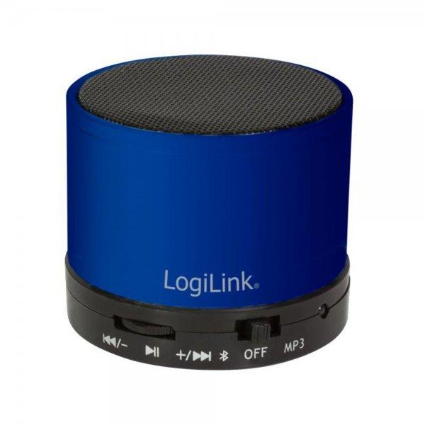 LogiLink Bluetooth Lautsprecher mit MP3-Player blau