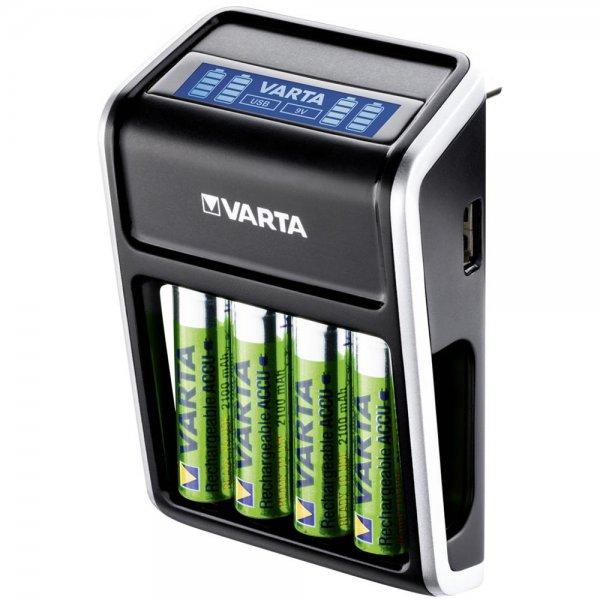Varta LCD Plug Charger inkl. 4 Akkus 2100 mAh AA