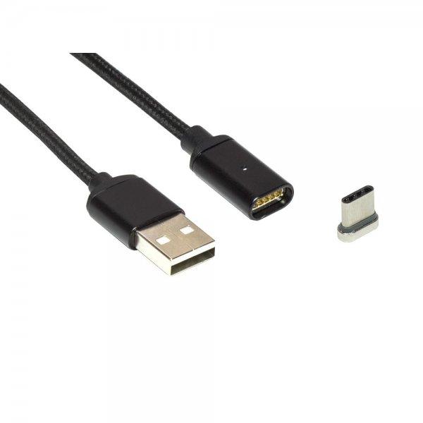 ZOIG magnetisches USB-C Ladekabel 1m schwarz