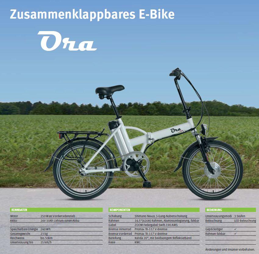 rotronic e bike ora elektro fahrrad unisex klapprad. Black Bedroom Furniture Sets. Home Design Ideas